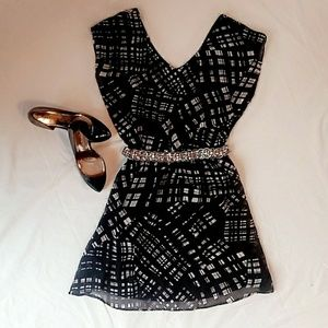 Express Dress Black and White